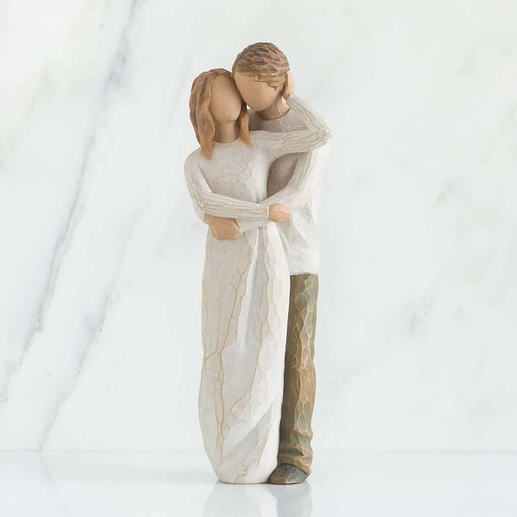anniversary gift for couples: willow tree together figure