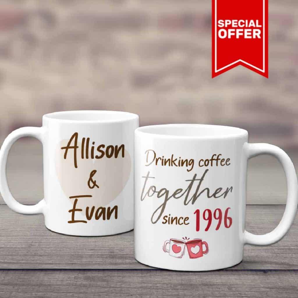 25th wedding anniversary mug