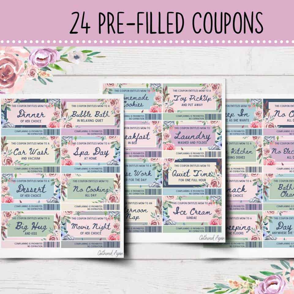 Mom Coupons - awesome mother's day ideas from daughter