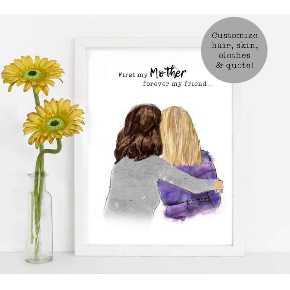 Mother Daughter Wall Art - awesome mother's day ideas from daughter
