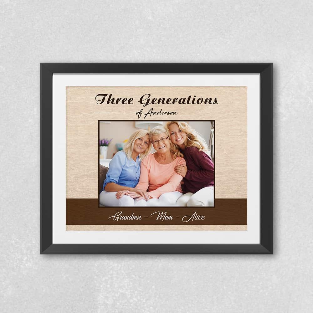 three generations custom photo art print