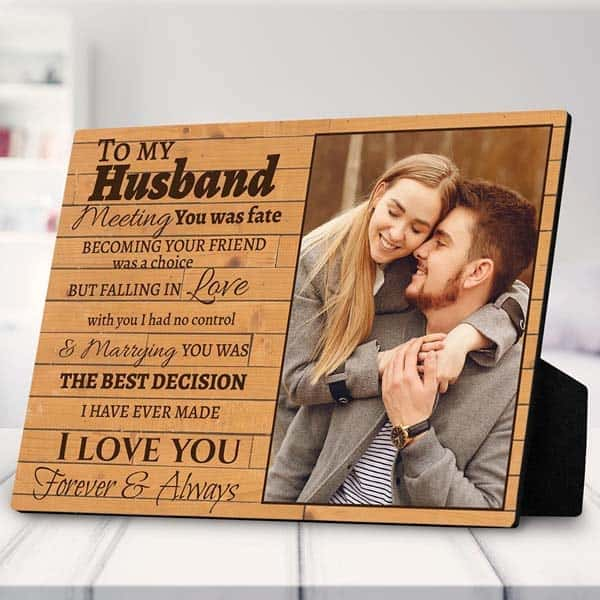 To My Husband Photo Plaque