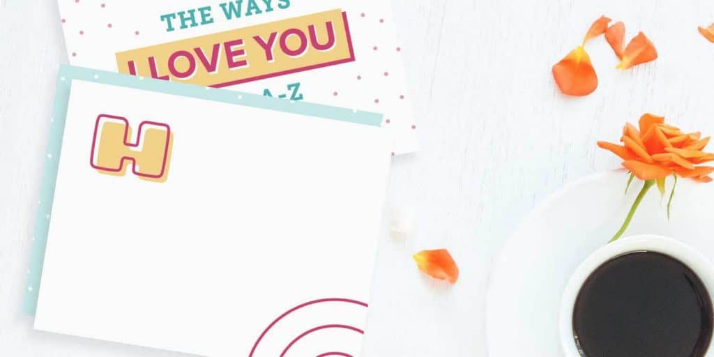cute anniversary gift ideas: alphabets of love