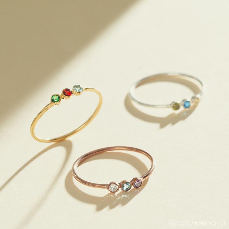 mothers day custom jewelry: custom birthstone rings