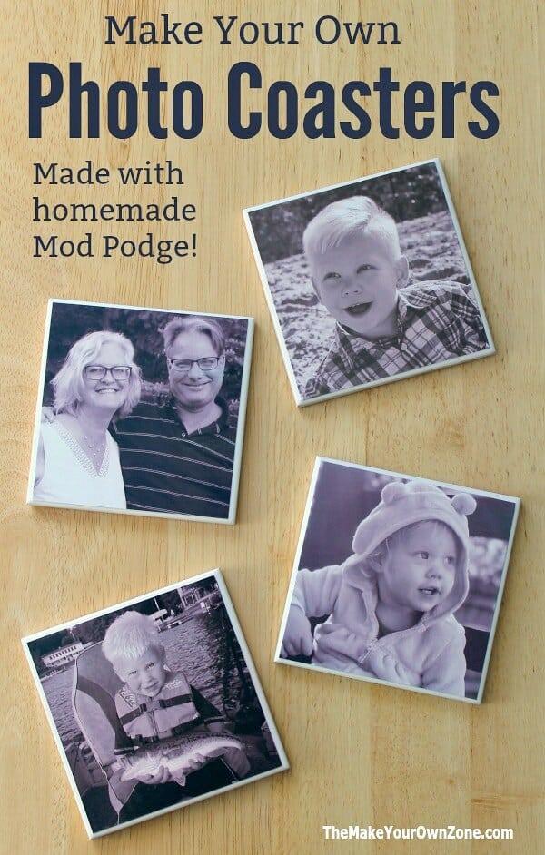 homemade anniversary gift ideas: diy photo coasters
