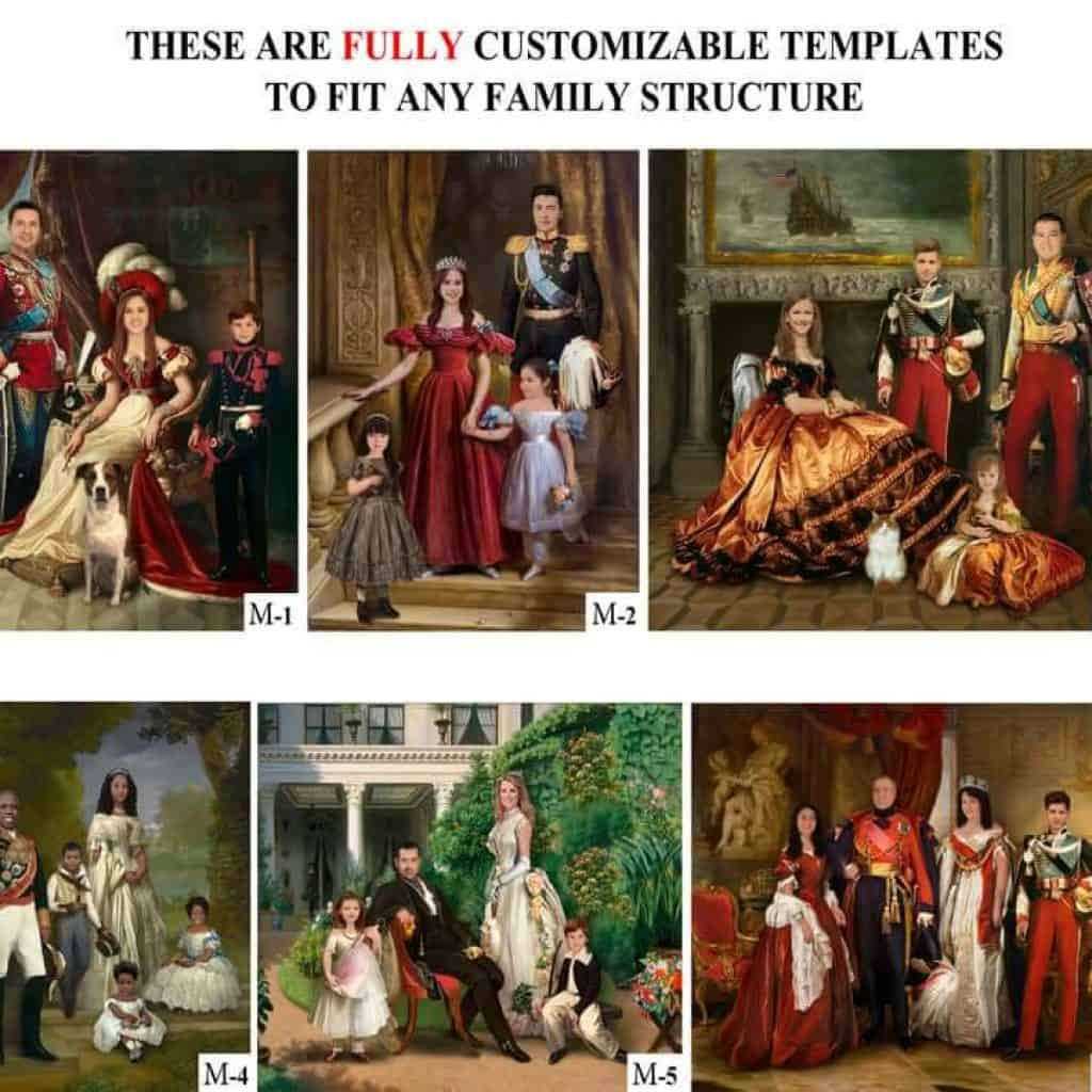 funny personalized gift for mom: historical family portrait