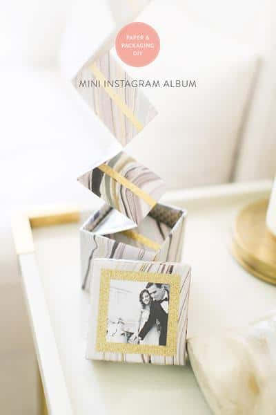diy anniversary gift ideas: instagram album