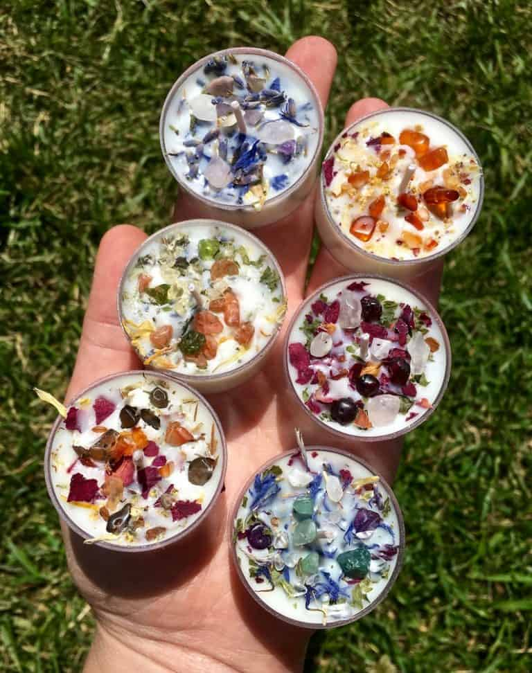 Crystals & Herbs Tealight Candles Soy