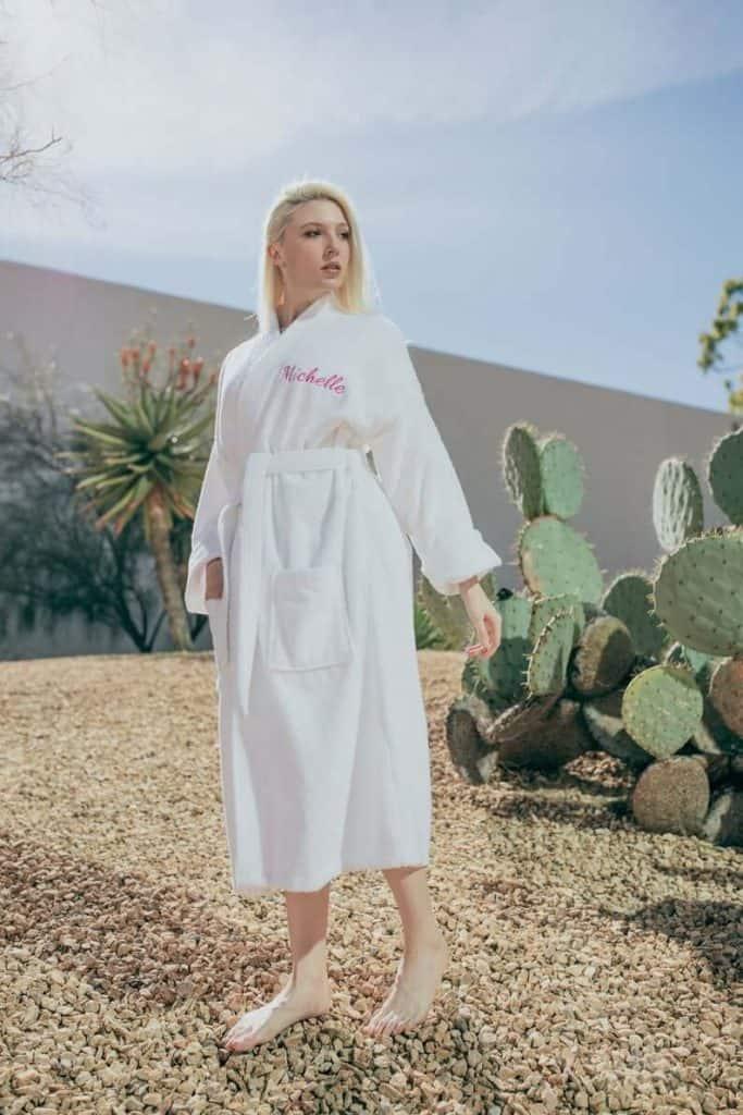 personalized bath robe for women