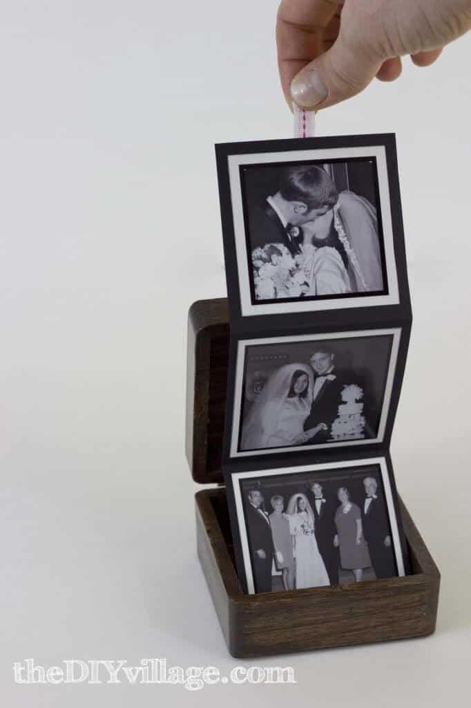 homemade anniversary gifts husband: pop up photo box