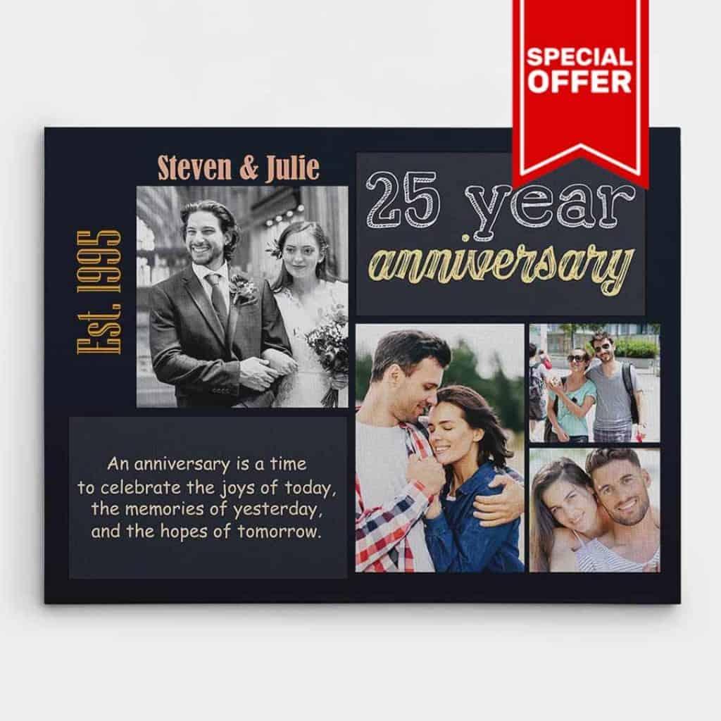 silver anniversary canvas