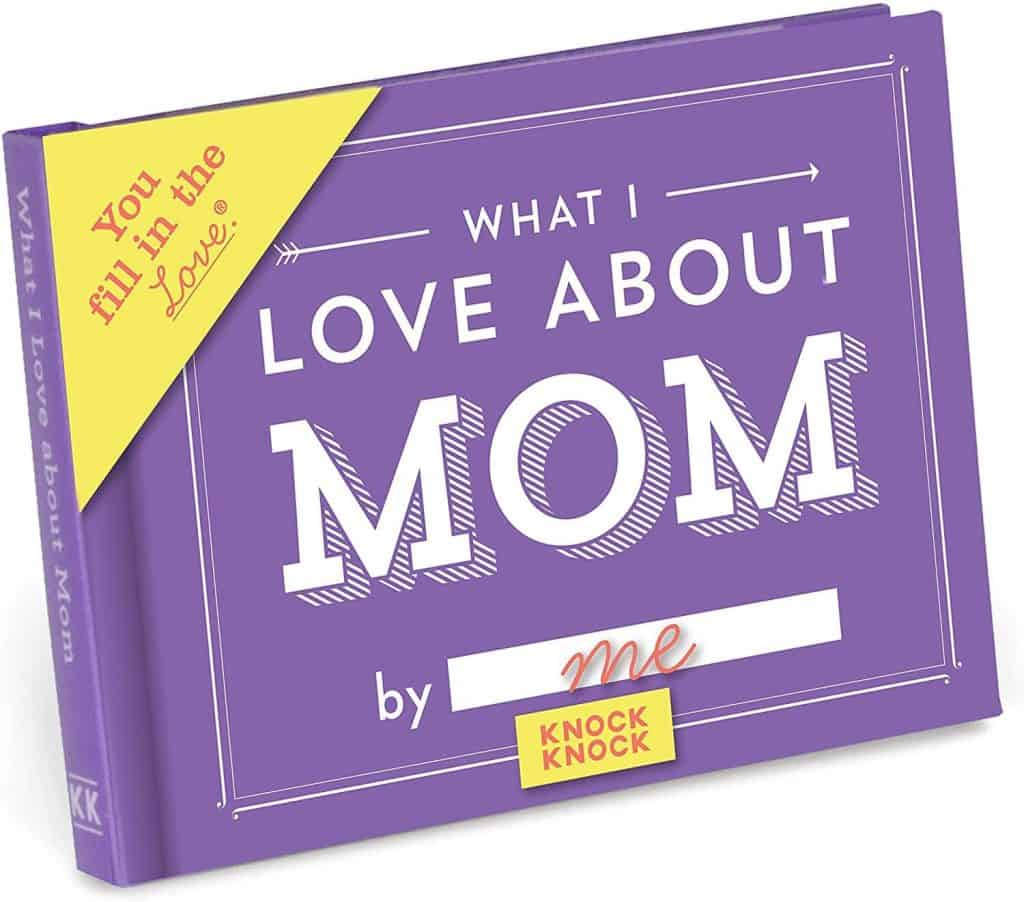 personalized mom gifts: what i love about mom by me journal
