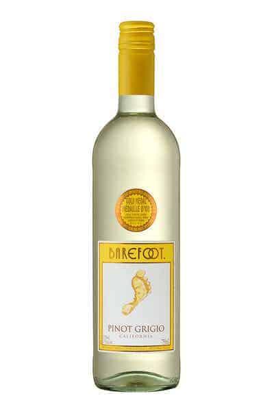 Barefoot Pinot Grigio wine bottle
