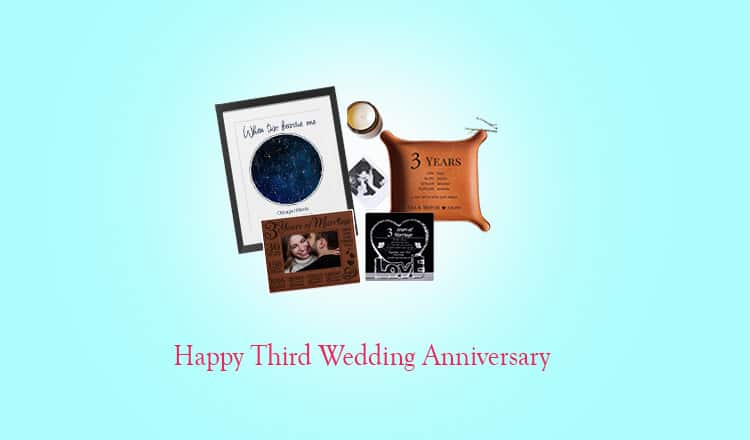 3rd Wedding Anniversary Gifts for Him, Her & Couple in 2021