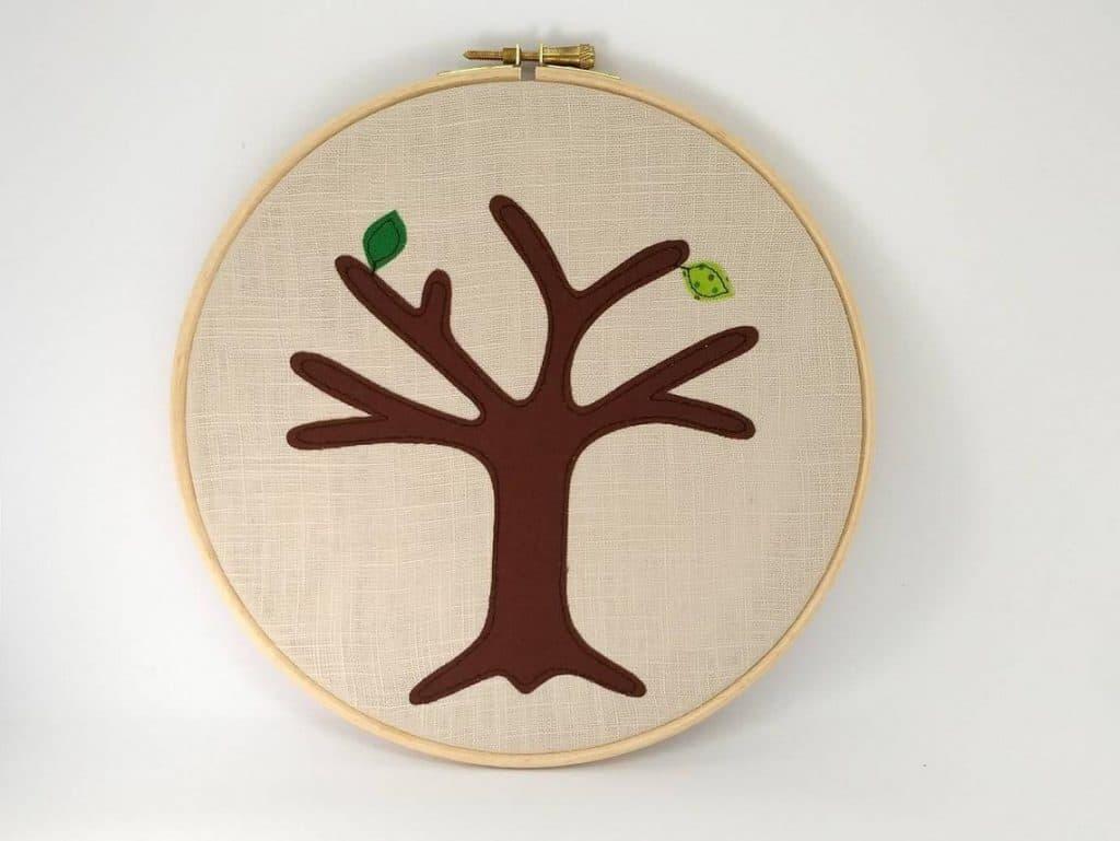 Applique Anniversary Tree cotton anniversary gift