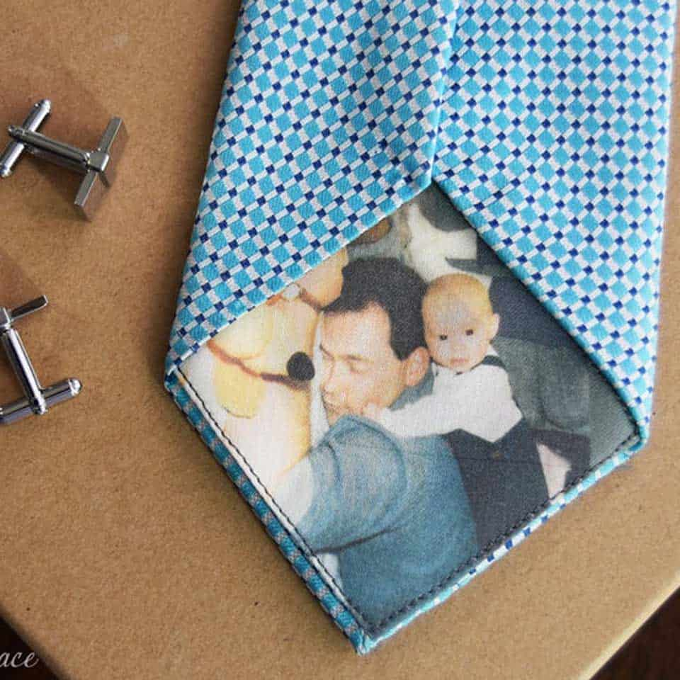 personalized fathers day gifts - Custom Picture Tie Patch