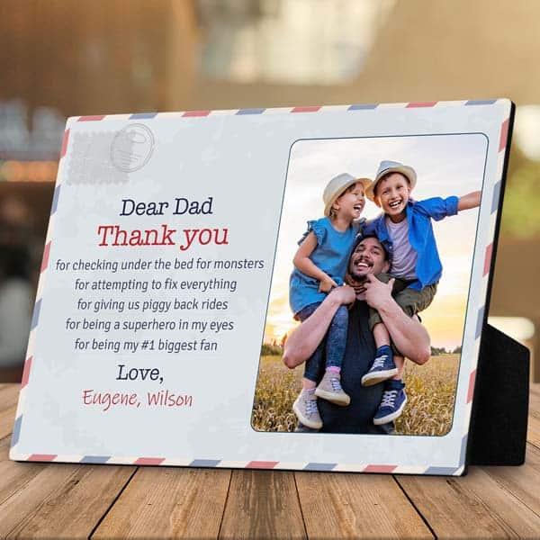 Dear Dad Plaque