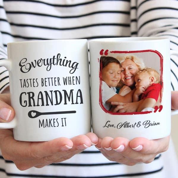 Everything Tastes Better When Grandma Makes It Custom Mug