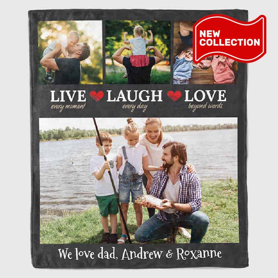 personalized fathers day gifts - Family Photo Blanket