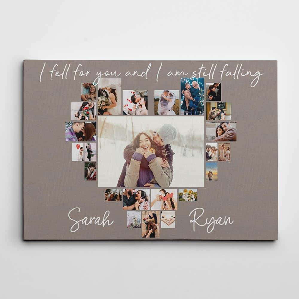 I Fell For You And I Am Still Falling Custom Photo Collage Canvas Print