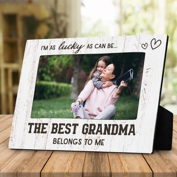 photo gifts for grandma: custom desktop photo plaque
