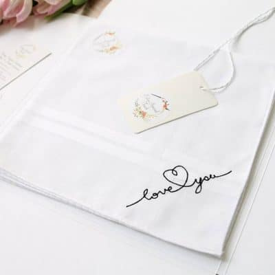 anniversary gift ideas for wife: Love You Handkerchief