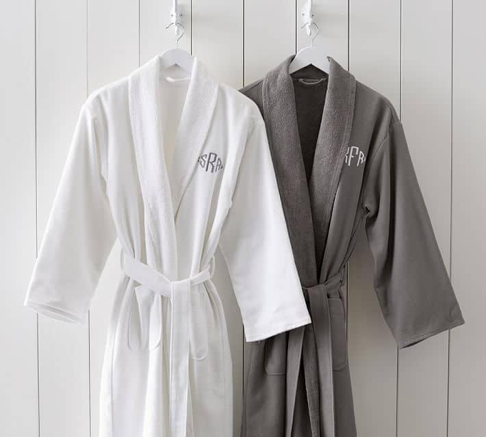 Organic Spa Robe with monogram