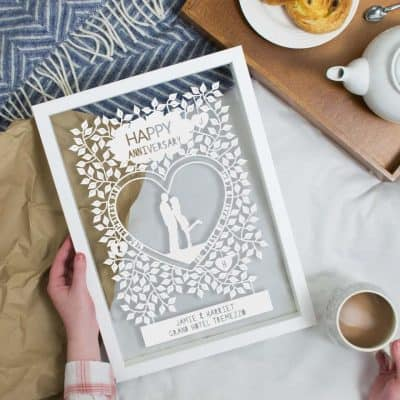 anniversary gifts for women: Papercut Art