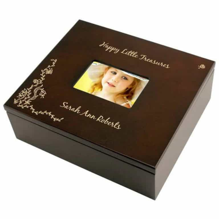 Photo Engraved Keepsake Box