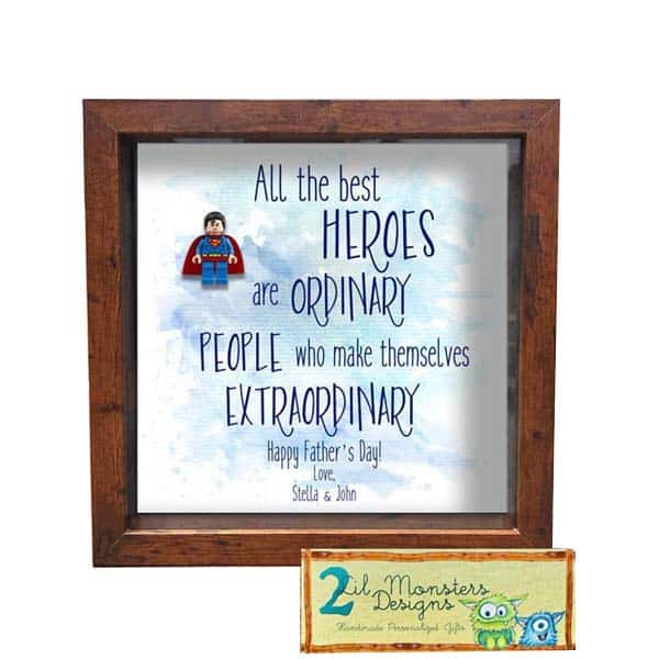 Shadowbox Frame - ideas for cheap fathers day gifts