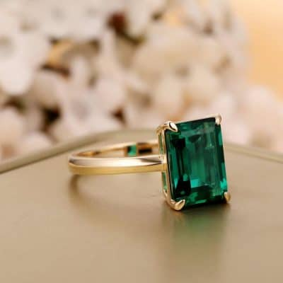 best gift for wife on wedding anniversary: Solitaire Ring
