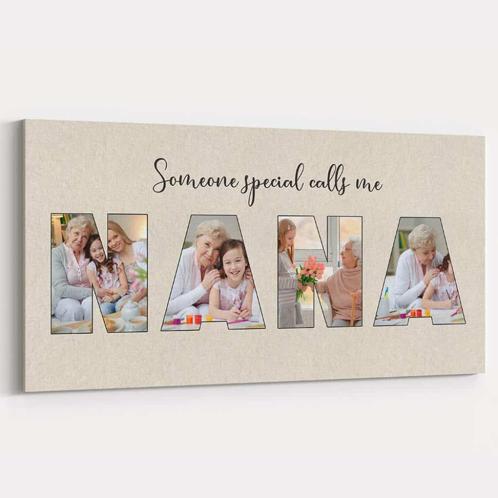 personalized gifts for grandma: someone special calls me grandma photo canvas print