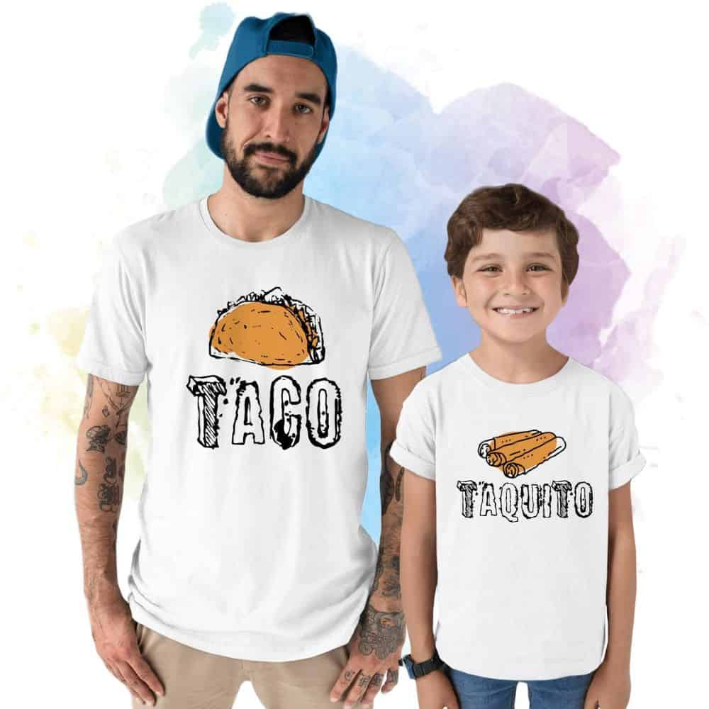 Taco Taquito Shirts father and son gifts