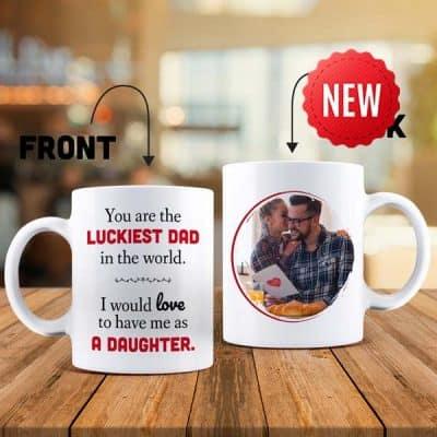 The Luckiest Dad Mug