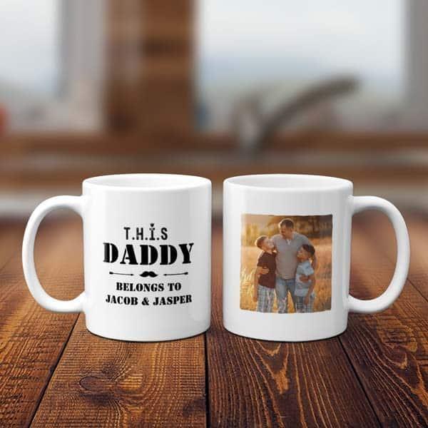 This Daddy Belongs To Custom Photo Mug