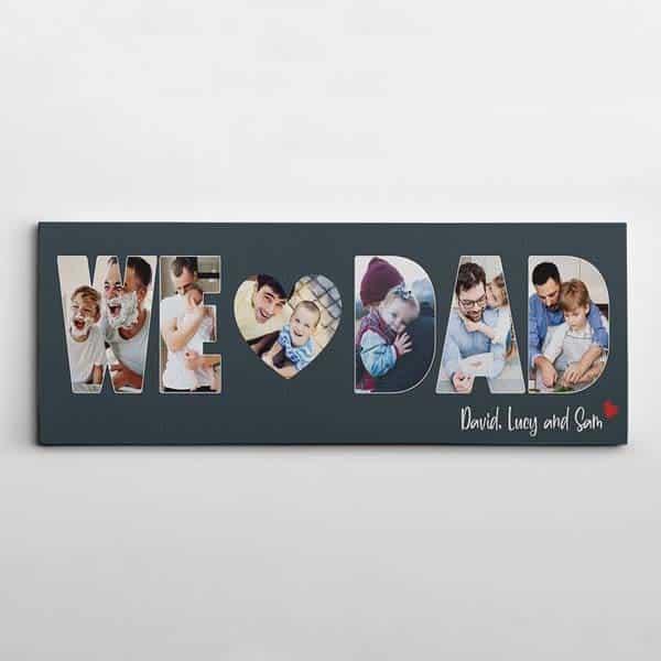 we love dad photo canvas print