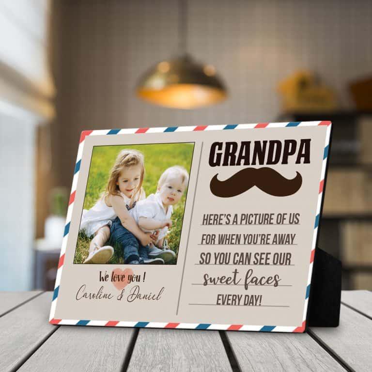Grandpa Here's A Picture Of Us Desktop Photo Plaque