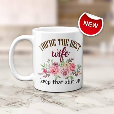 wife anniversary gifts: You Are the Best Wife Mug