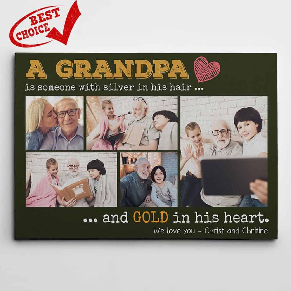 personalized Fathers Day gifts for grandpa