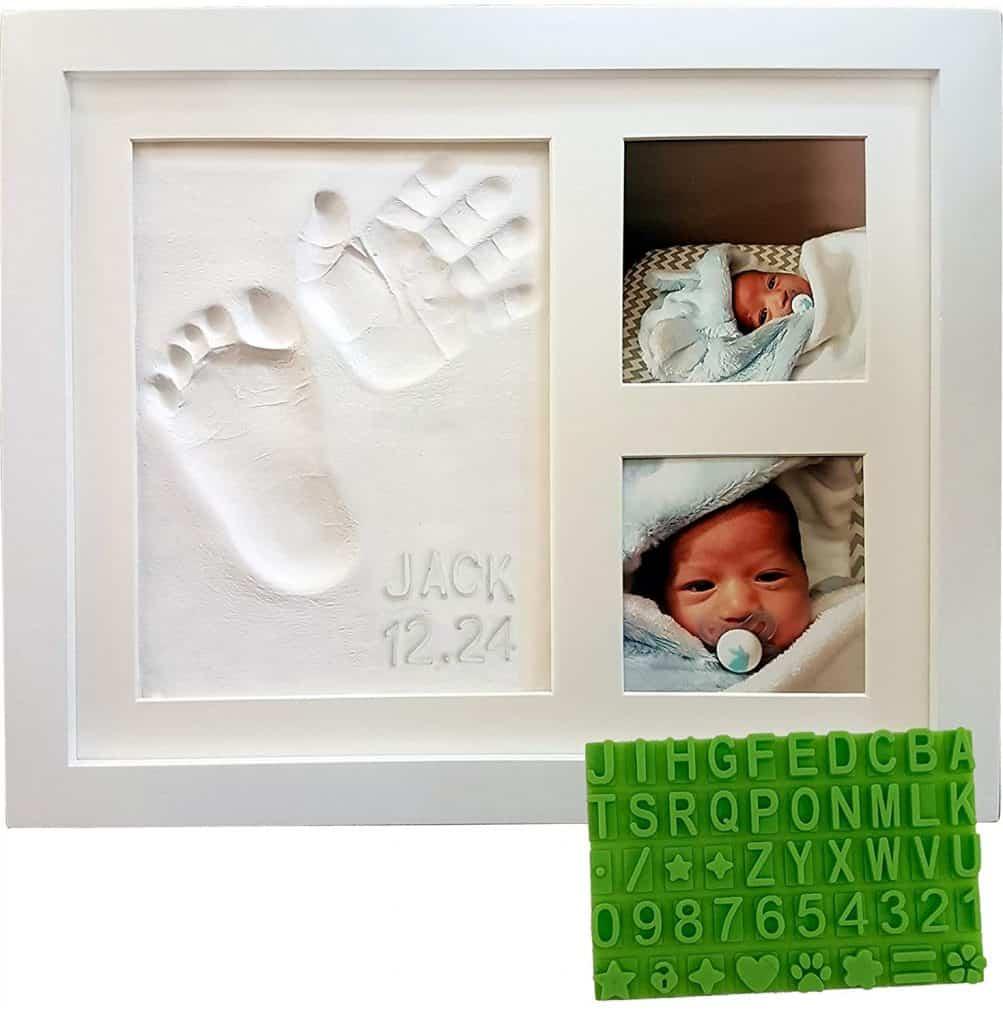 custom gift for new grandmas: baby keepsake frame kit