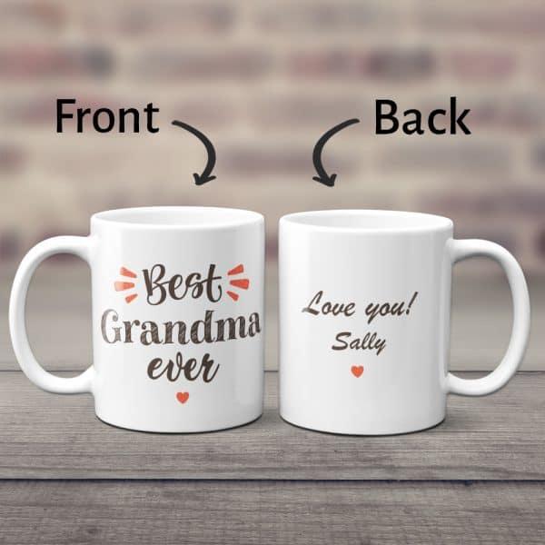 mother day gifts from grandchildren: custom coffee mug