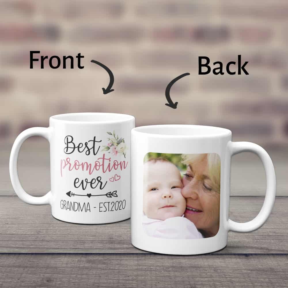 new grandma gifts: best promotion ever custom photo mug