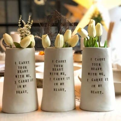 romantic anniversary gifts for her: Ceramic Vase