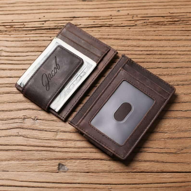 wedding anniversary gifts for husband: custom money clip