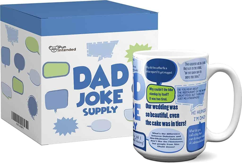 dad joke gifts: dad joke supply mug
