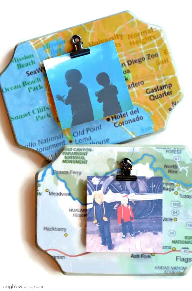 father's day diy gifts: diy map picture frame