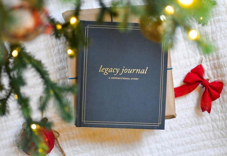 first time grandma gifts: family tree keepsake journal