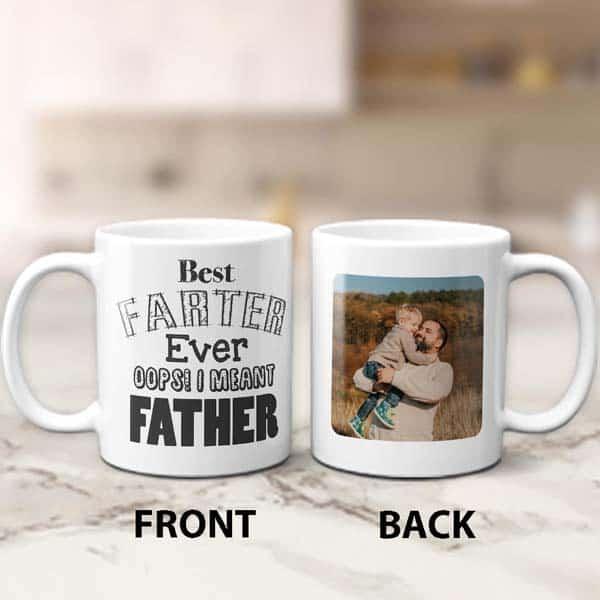 funny photo mug for dad