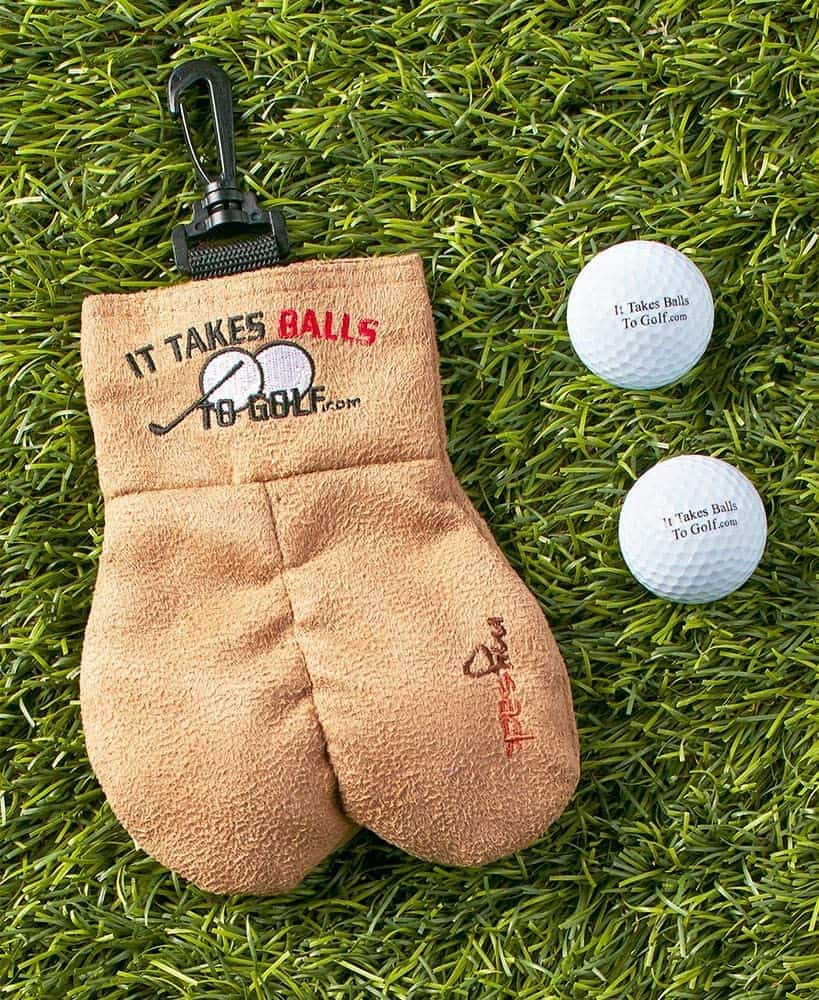 gag gifts for father's day: golf ball storage bag