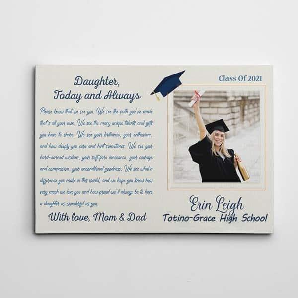 Graduation Letter Canvas